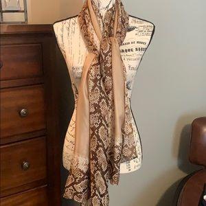 White house black market silk snake print scarf